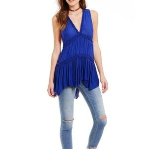 Free People Tops - New Free People Blue Haze Sleeveless Tunic Size L